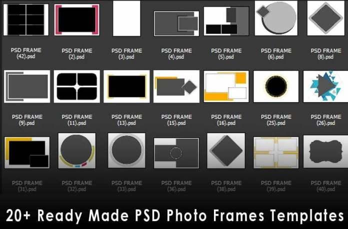 PSD Photo Frames Templates