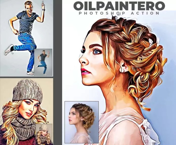 Oilpaintero Photoshop Action