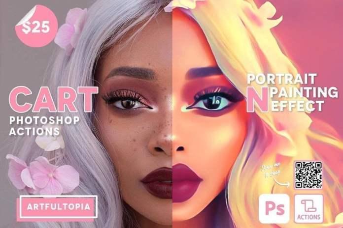 Cartoon Portrait Painting Effect