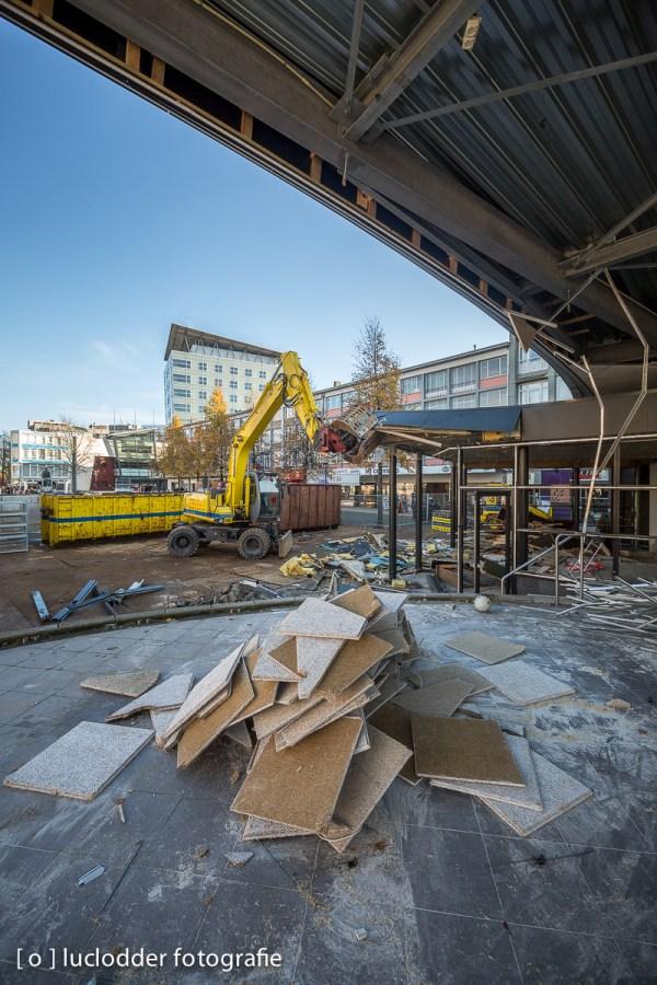 Cafe d'r Maat en de Kiosk werden in Kerkrade gesloopt.