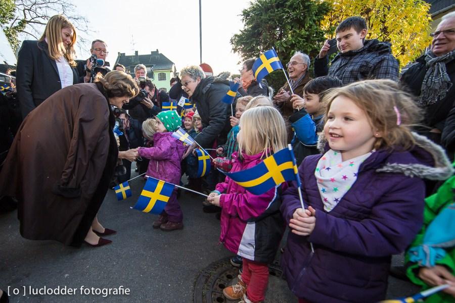 Koningin Silvia Renate Sommerlath uit Zweden bracht een bezoek aan Herzogenrath en Kerkrade.
