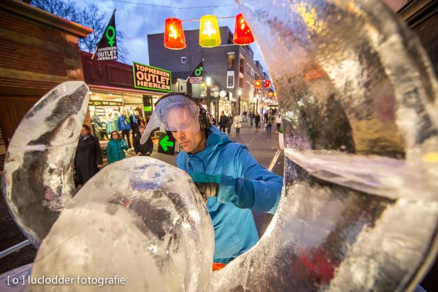 Voor de eerste keer was het NK Ice Carving in Heerlen.