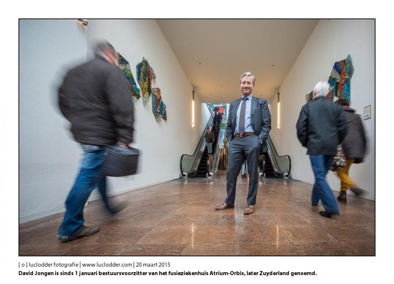 David Jongen is sinds 1 januari bestuursvoorzitter van het fusieziekenhuis Atrium-Orbis, een van de grootste ziekenhuizen van Nederland en de grootste werkgever van Limburg