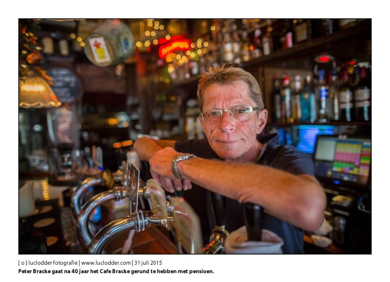 Peter Bracke gaat na 40 jaar het Cafe Bracke gerund te hebben met pensioen.