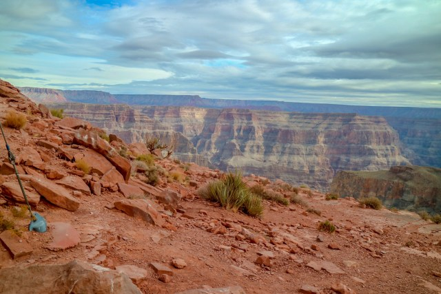 View from the cafeteria at the West Rim of the Grand Canyon - Views of the gran canyon skyline