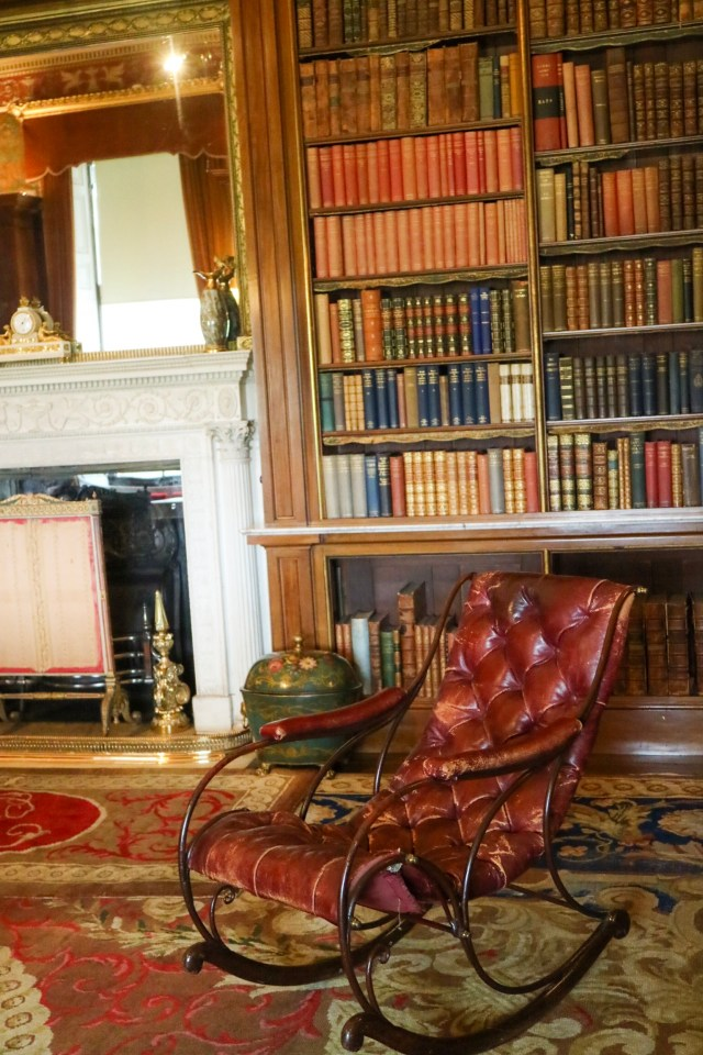 library at harewood house