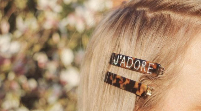 j'adore hair clip in blonde hair