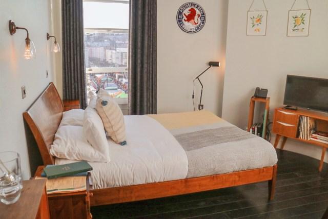 bedroom at The Distillery Hotel at Portobello Road Gin