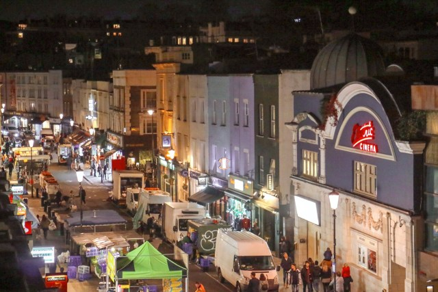 view from the bedroom at The Distillery Hotel at Portobello Road Gin