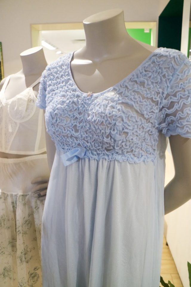 blue crinoline nightie on a mannequin