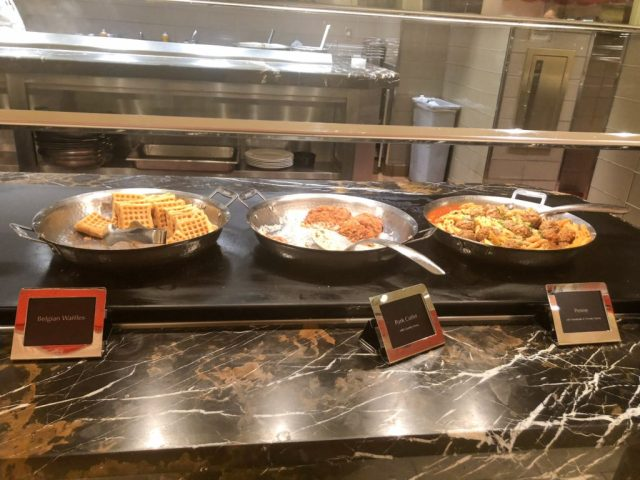 main dishes at the buffet at wynn