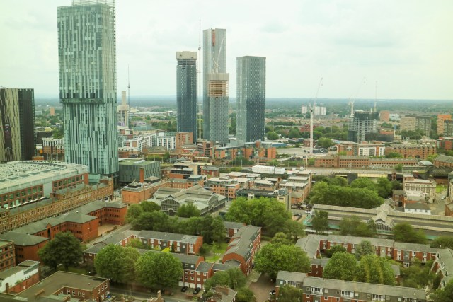 views of Manchester from 20 stories Manchester