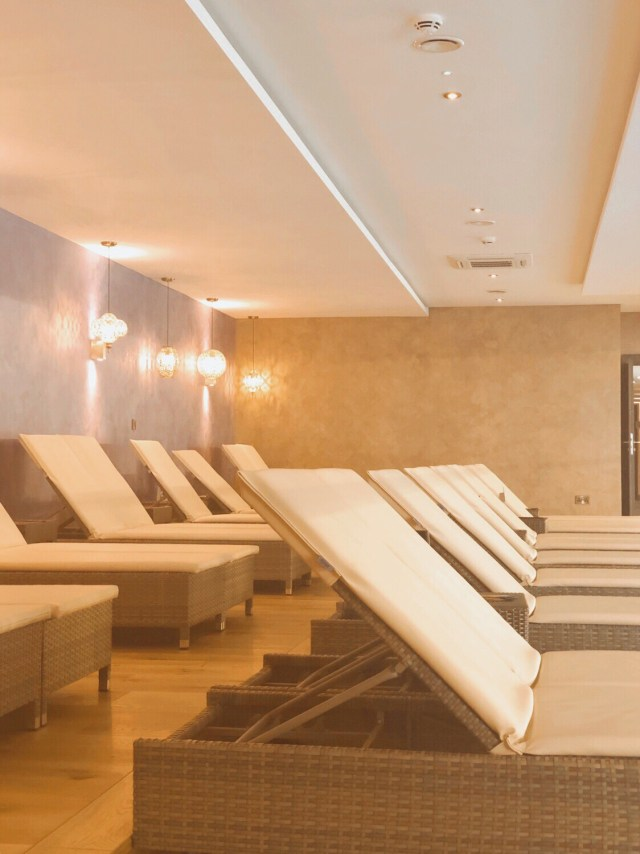 loungers in the relaxation room