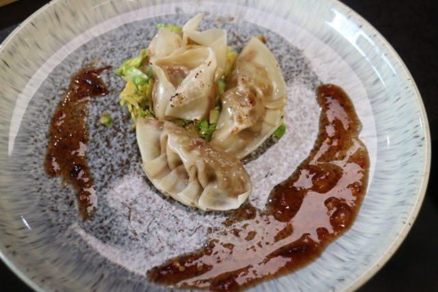 gyoza on a plate