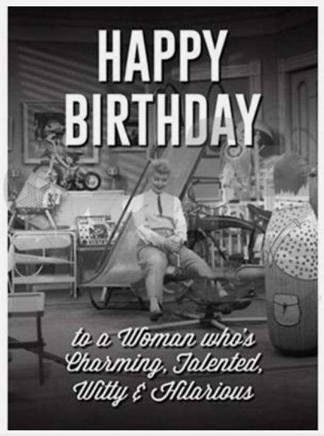 I Love Lucy Happy Birthday Greeting Card Lucystore Com