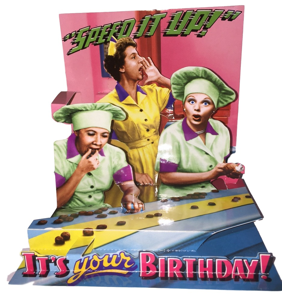 I Love Lucy Speed It Up Pop Up Birthday 3d Greeting Card Lucystore Com
