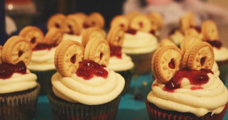 Jammie Dodger Cupcakes!