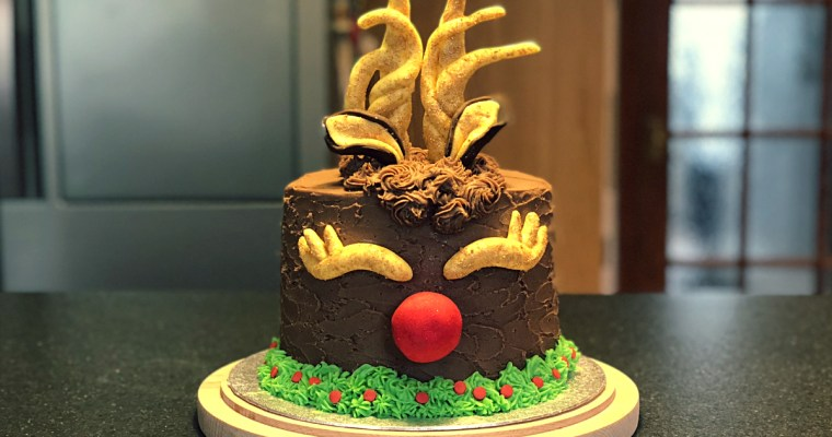 My Rudolph Christmas Cake! | Cupcake Jemma Inspired