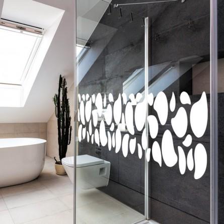 stickers de salle de bain les galets