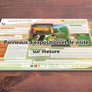 Conception sur mesure d'un panneau d'exposition ou d'un panneau de visite