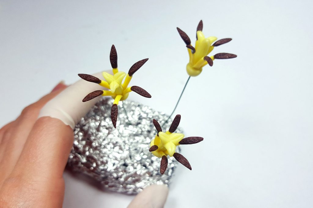 Hair Comb With Realistic Tulips Flowers from Polymer Clay 49
