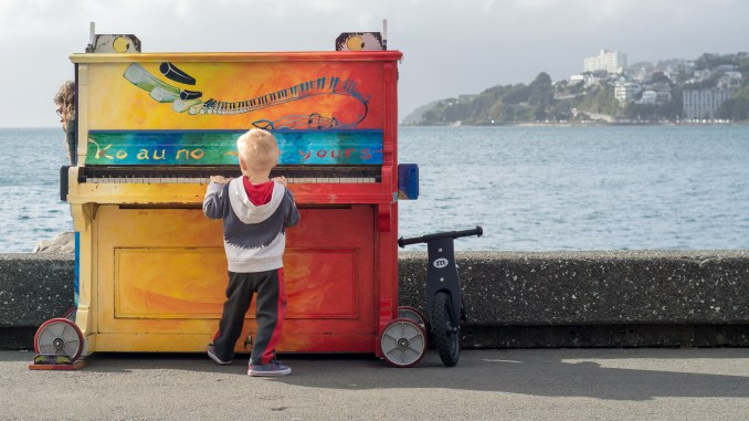 Child motivated to play piano