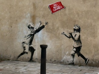 Banksy children playing