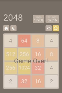 A disappointing late night with 2048