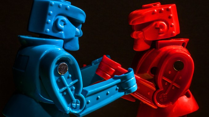 Red vs Blue robot