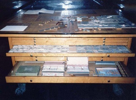 Display case of wargaming table
