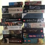 Pile of boardgames