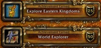 Achievements earned