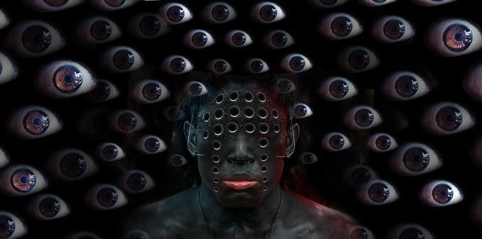 Man with multiple eyes