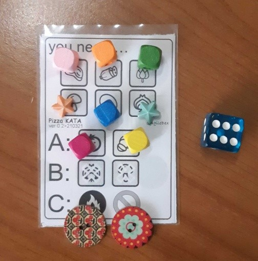 card with tokens on