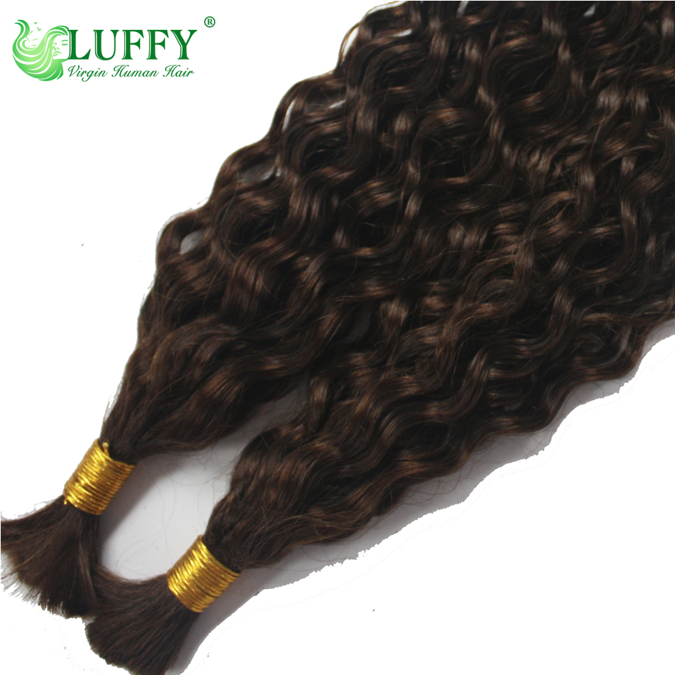 8A Deep Curly Bulk Hair For Braiding 100 Unprocessed