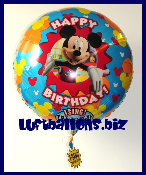 Happy Birthday Musikballon Folien Luftballon Mit Micky Maus Singender Ballon Lu Musik Luftballon Geburtstag Happy Birthday Micky Maus 16168