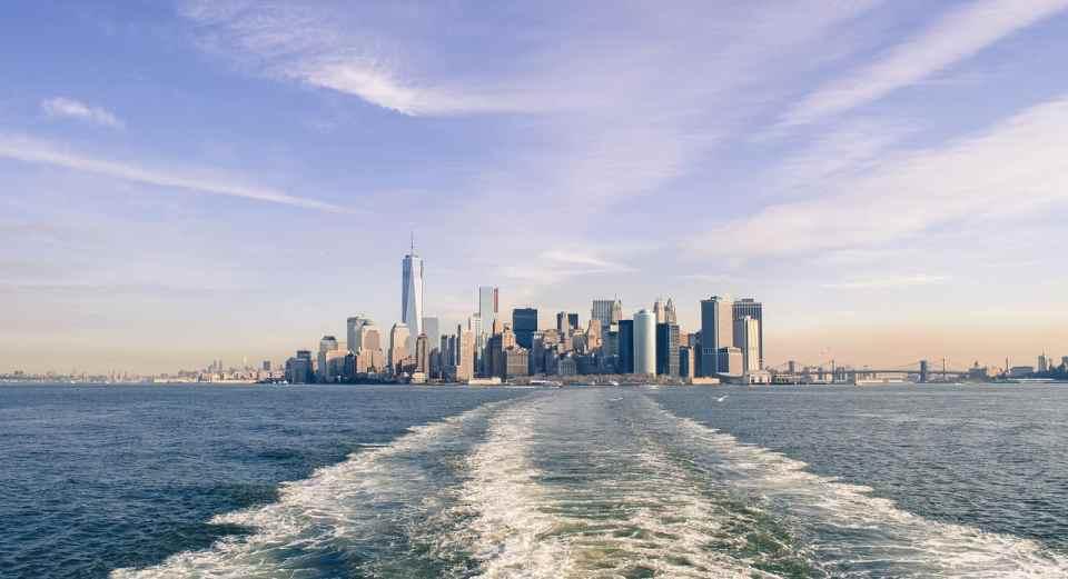 vistas desde el ferry state island