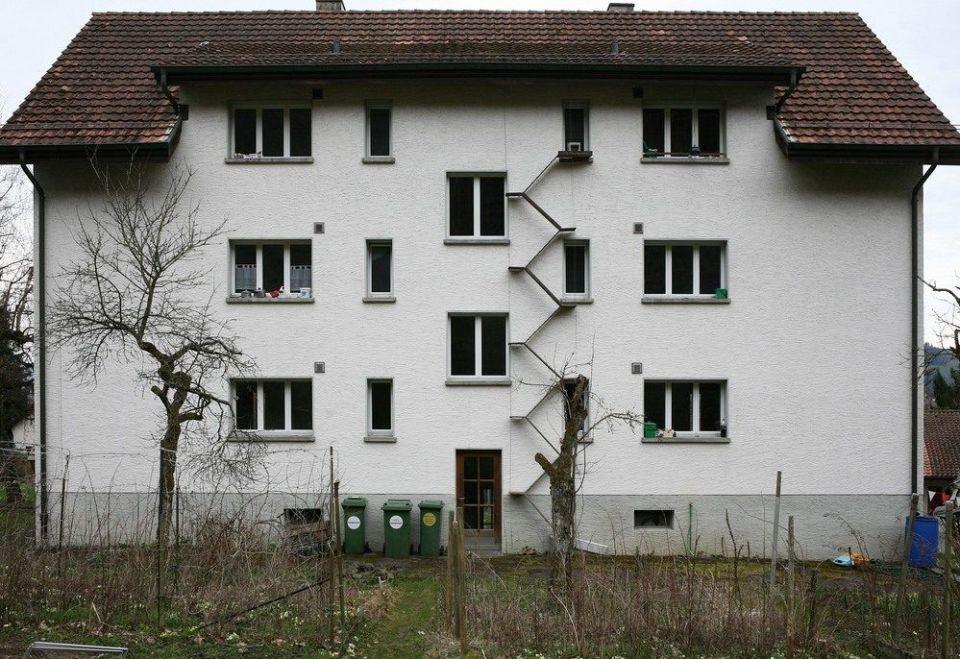 Ingeniosas escaleras de Berna para gatos