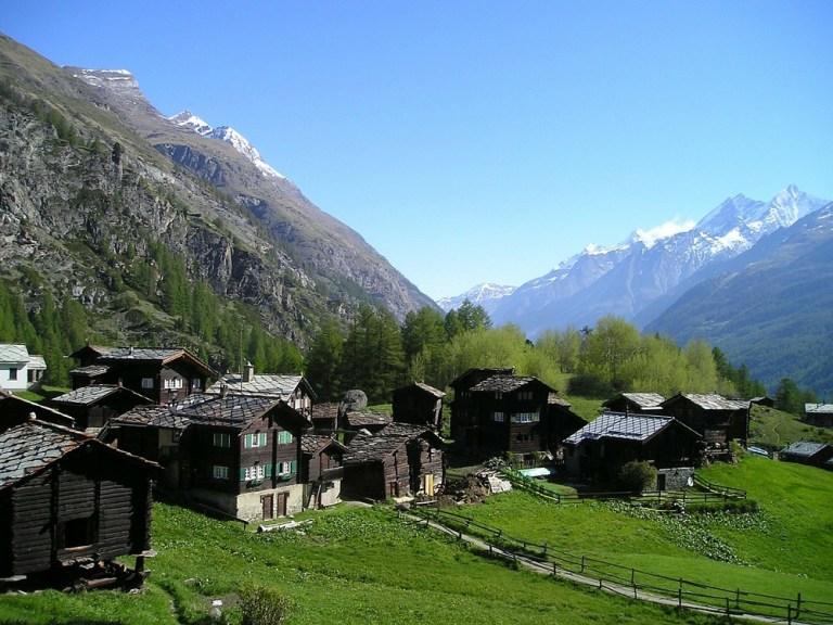 El pueblo suizo de Zermatt