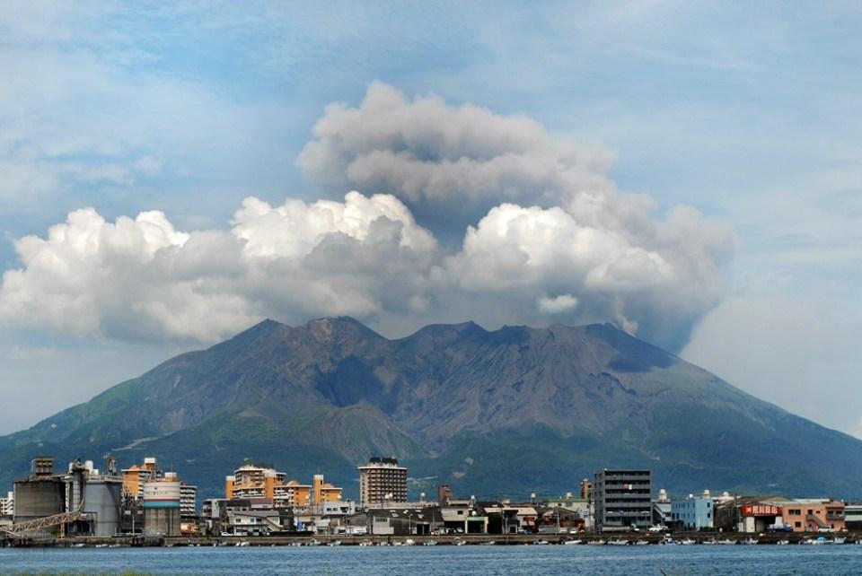 Volcán Sakurajima, en Japón
