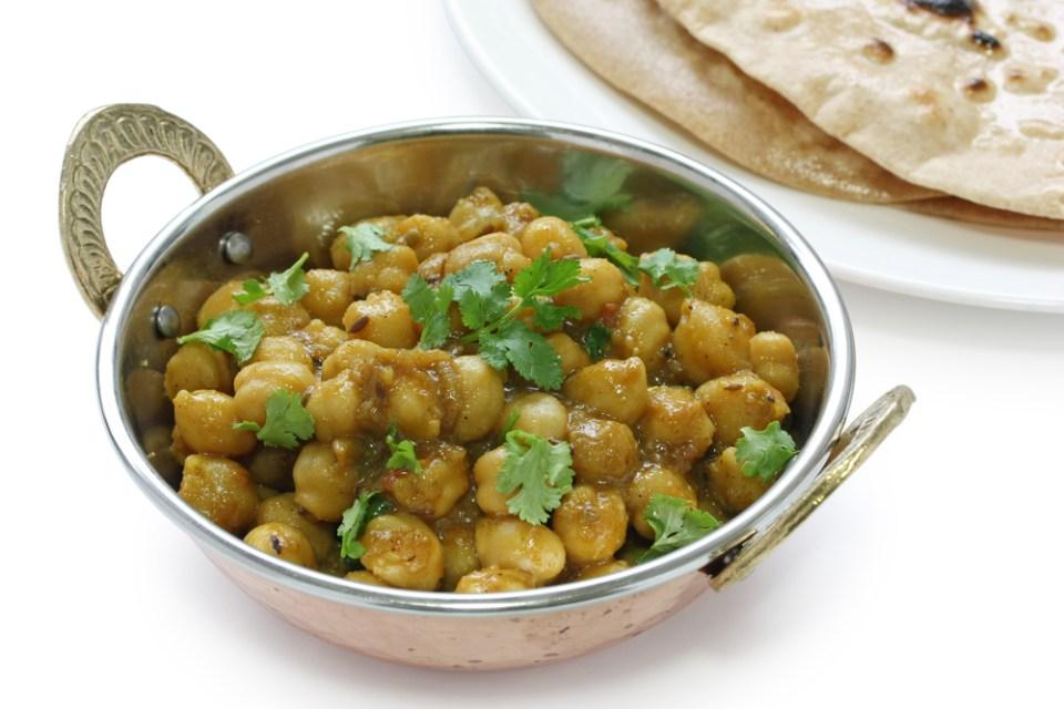 Curry de garbanzos chole