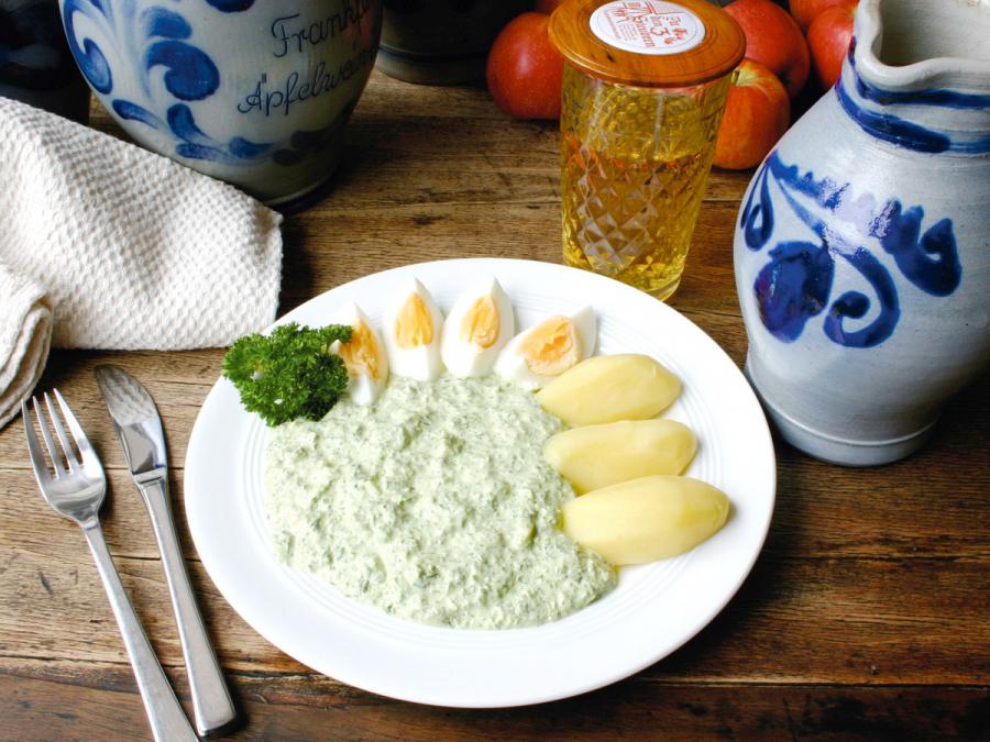 Apfelwine y Salsa Verde, gastronomía típica de Frankfurt