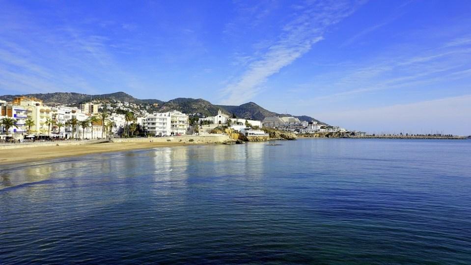 Sitges, pueblo de Cataluña con playa