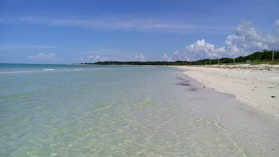 Playa de Sabancuy en Campeche