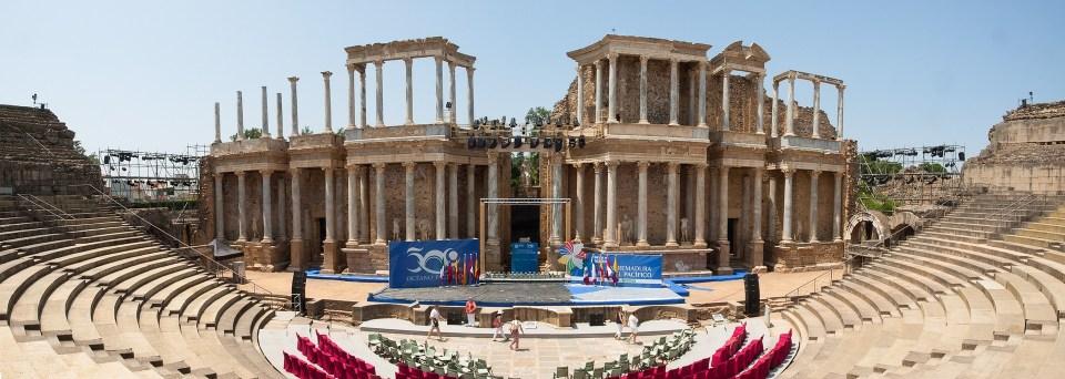 Teatro romano de los monumentos más visitados de España