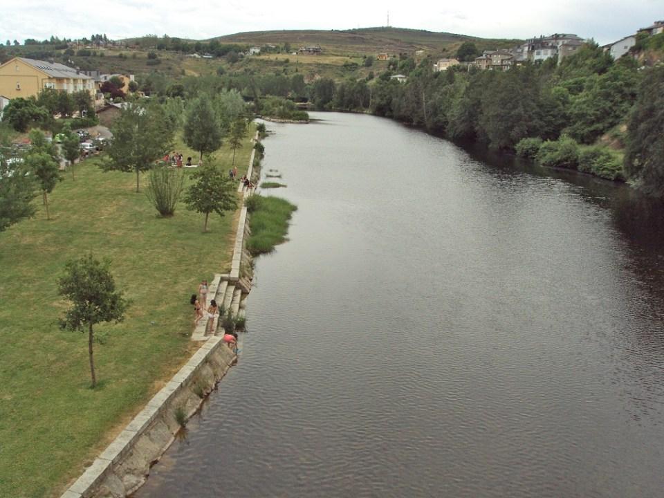 Bañarse en el río Tera, Zamora