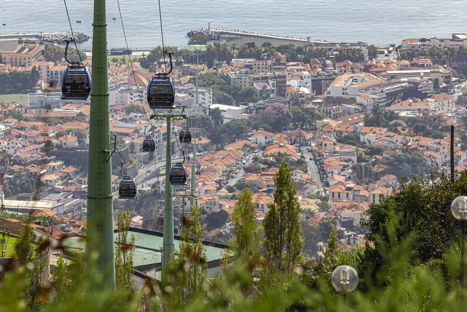 El teleférico es uno de los medios de transportes más importantes de Funchal