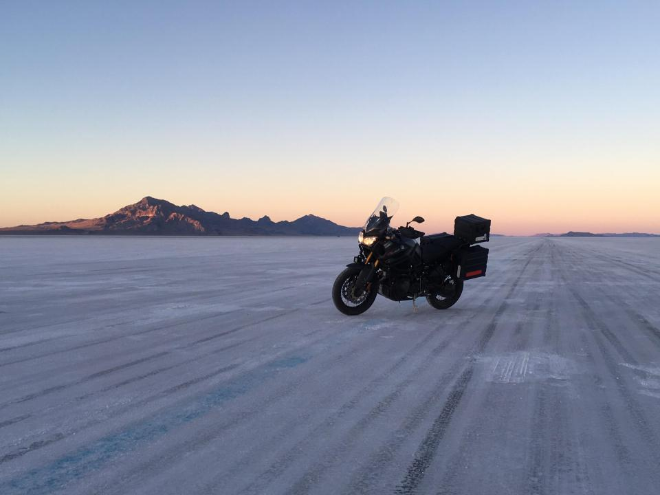 Bonneville Salt Flats, un desierto de sal en EE.UU