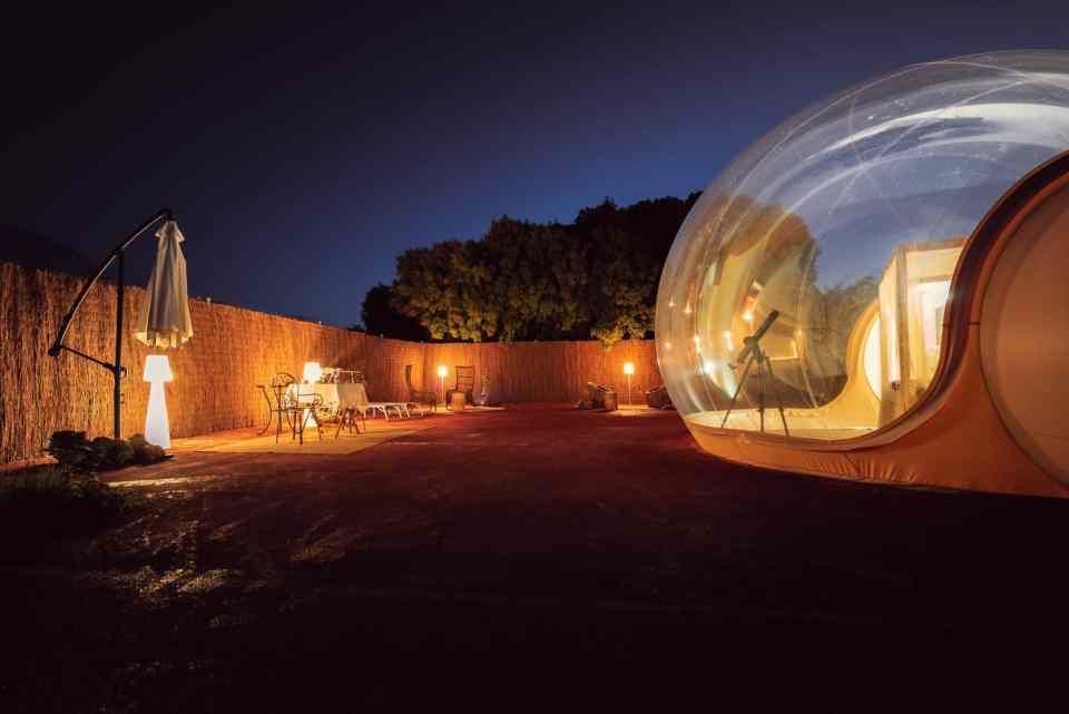 Hotel burbuja en Castilla la Mancha