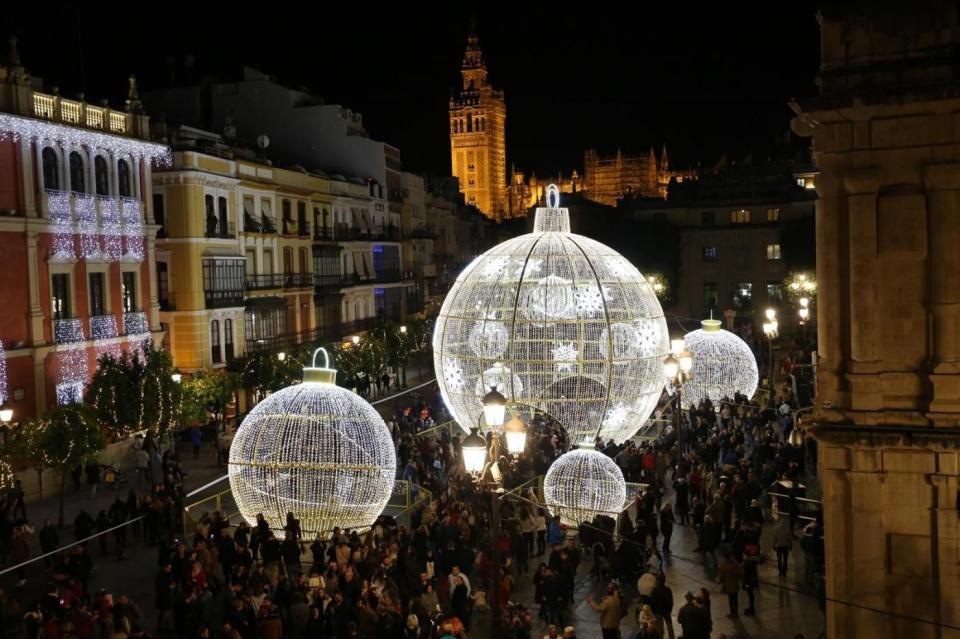 alumbrado navideño sevilla, uno de los mejores luces navideñas de España